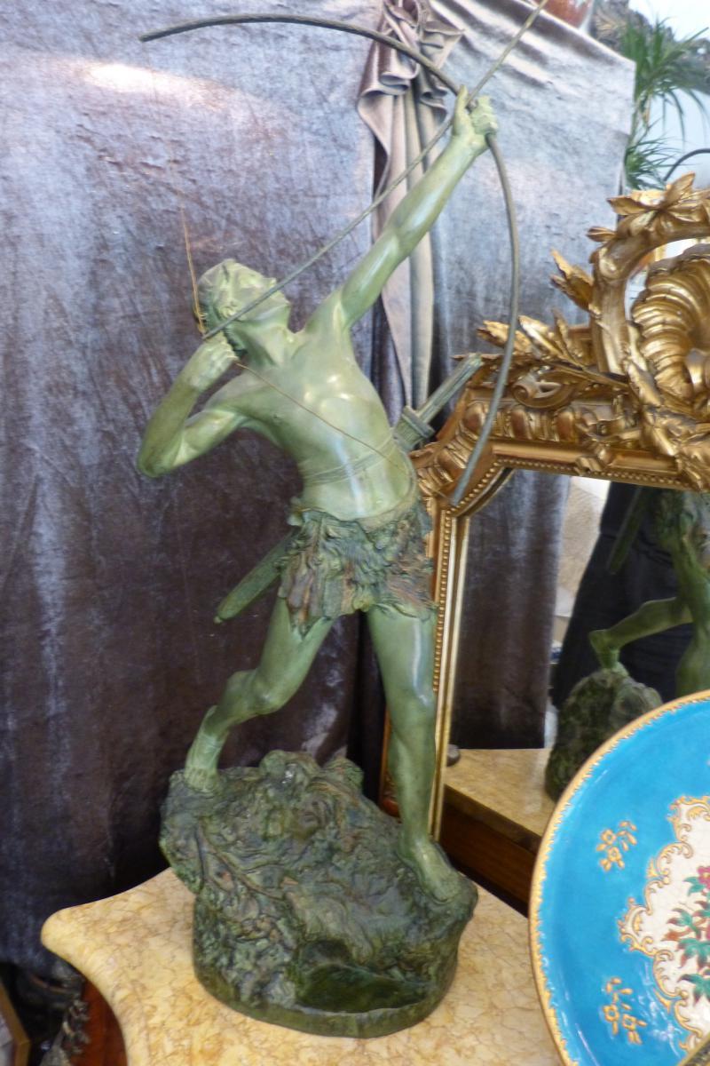bronze art d co emile gregoire tireur l 39 arc objets de d coration. Black Bedroom Furniture Sets. Home Design Ideas