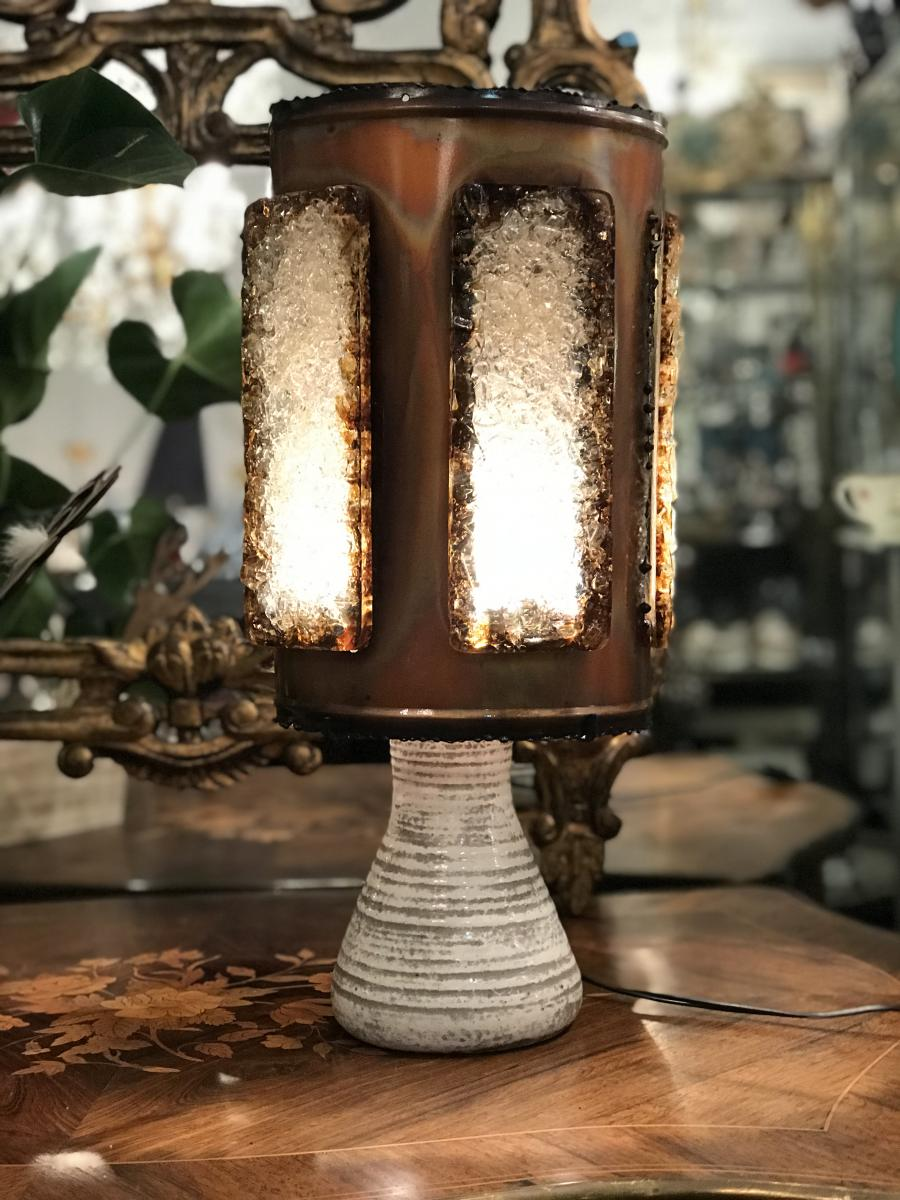 Lampe  Vintage En Céramique d'Accolay