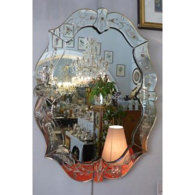 Murano Mirror Oval XX Eme S