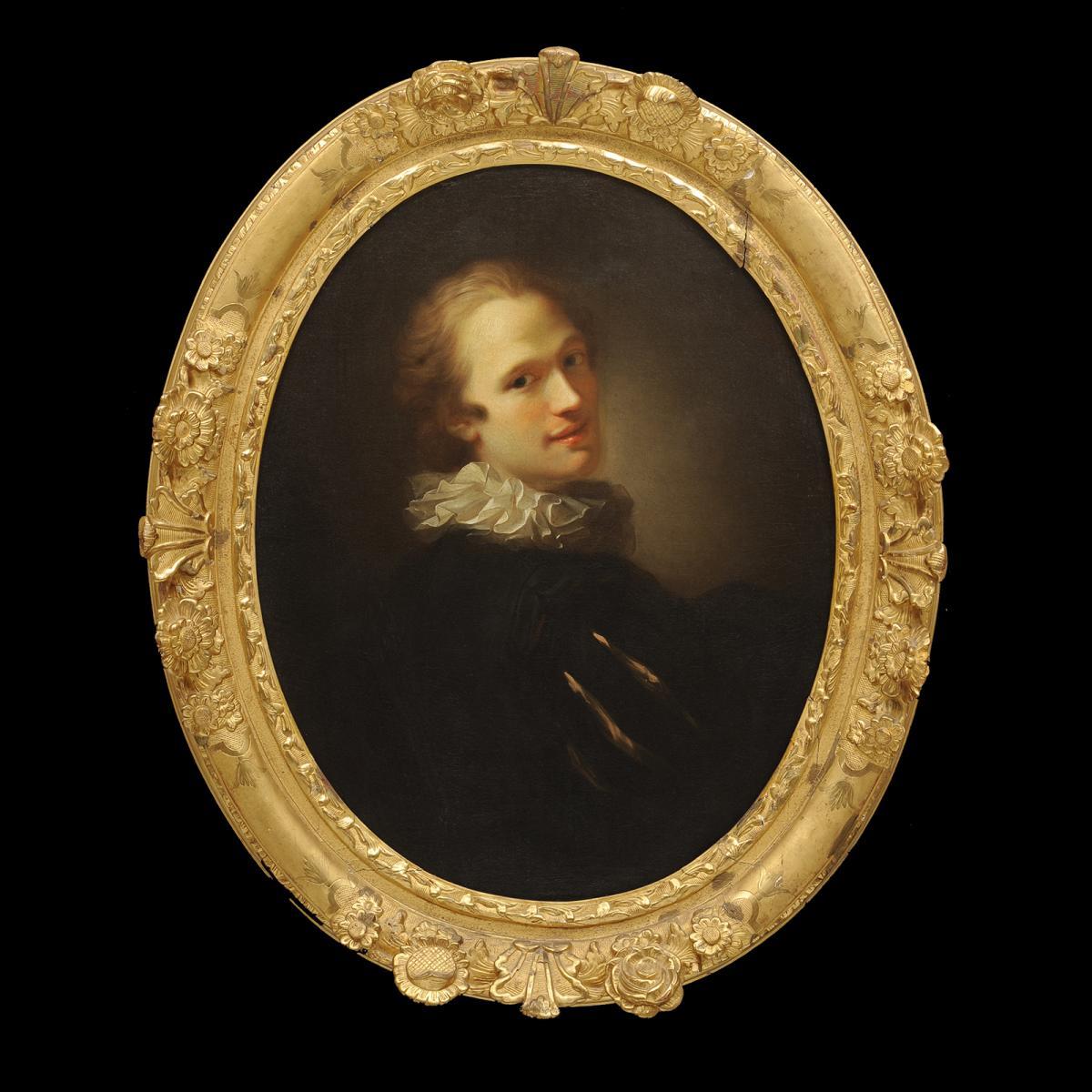 Alexis Grimou (1678-1738) - Jeune homme à la fraise