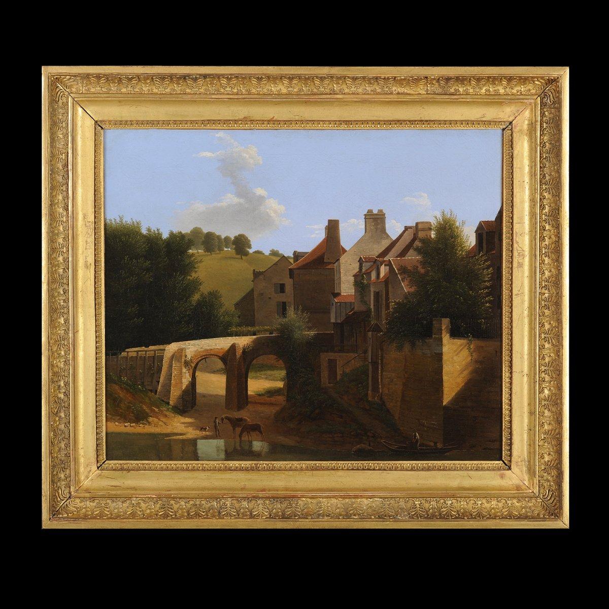 Jean-Victor Bertin (1767-1842) et atelier - Paysage d'Ile de France