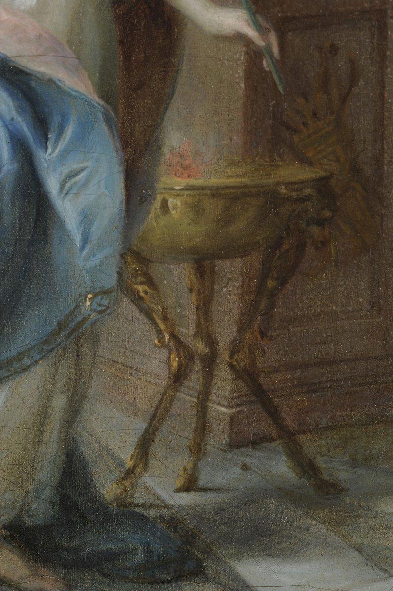 Sainte Martine brisant les Idoles - Ecole du Nord vers 1700-photo-1