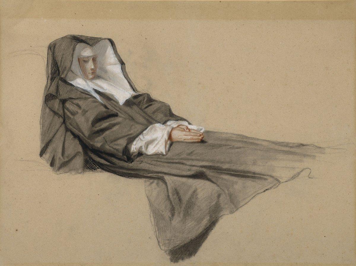 Isidore Pils (1815-1875) La mort d'une soeur de charité