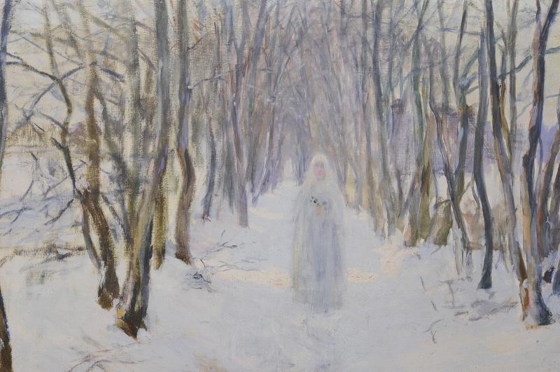 Numa Gillet  (1868–1940) - Communiante dans la neige-photo-2