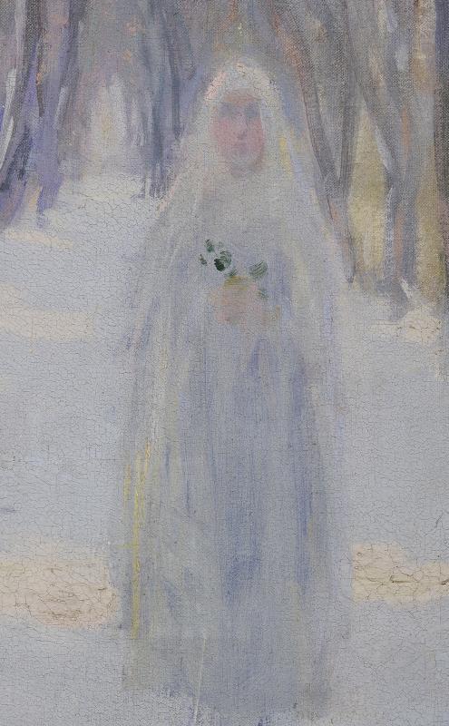 Numa Gillet  (1868–1940) - Communiante dans la neige-photo-3