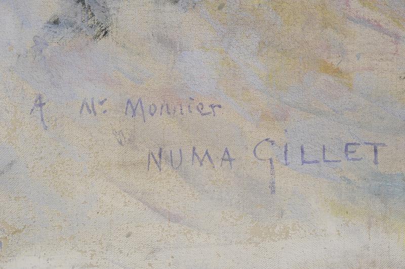 Numa Gillet  (1868–1940) - Communiante dans la neige-photo-4