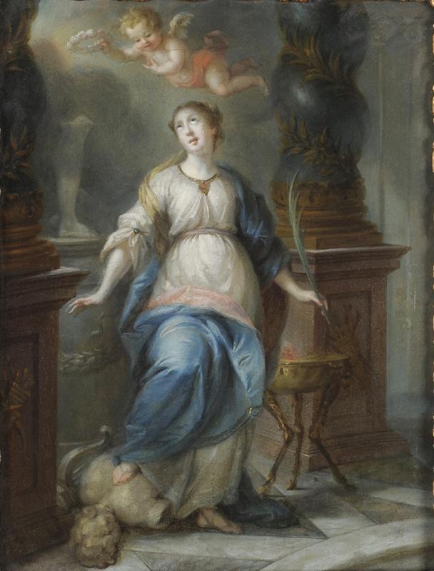 Sainte Martine brisant les Idoles - Ecole du Nord vers 1700-photo-2