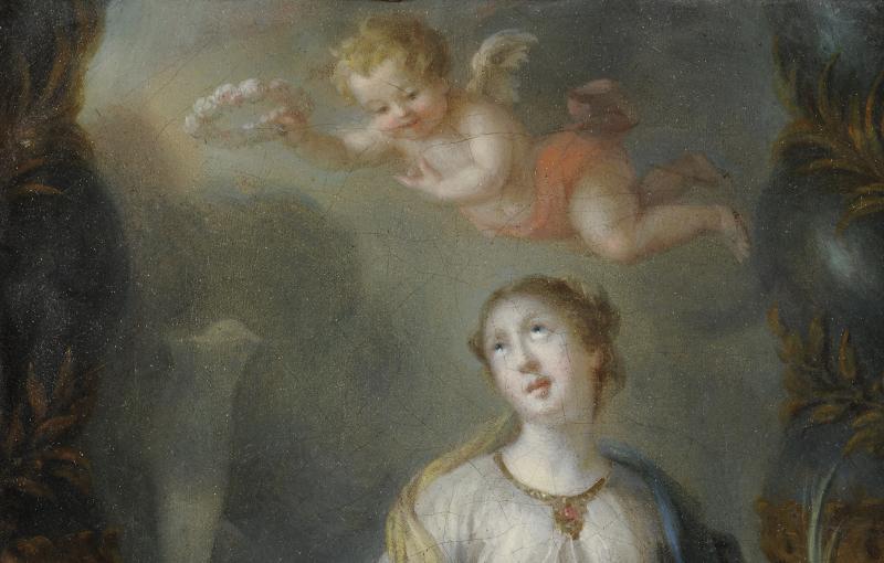 Sainte Martine brisant les Idoles - Ecole du Nord vers 1700-photo-3