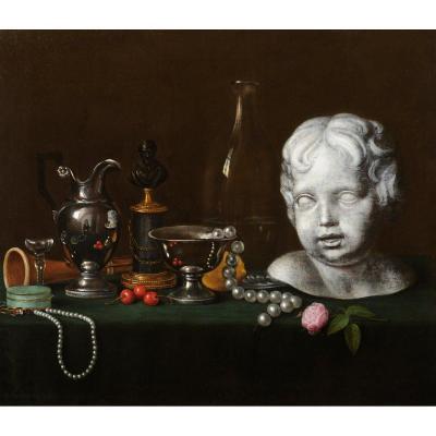 François Carlier-Rubrecq (vers 1820-1830) Etude de divers objets d'art