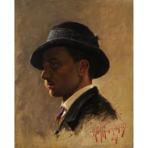 Attilio Manganaro (c.1865–c.1890) Portrait de Gabriele d'Annunzio en 1887