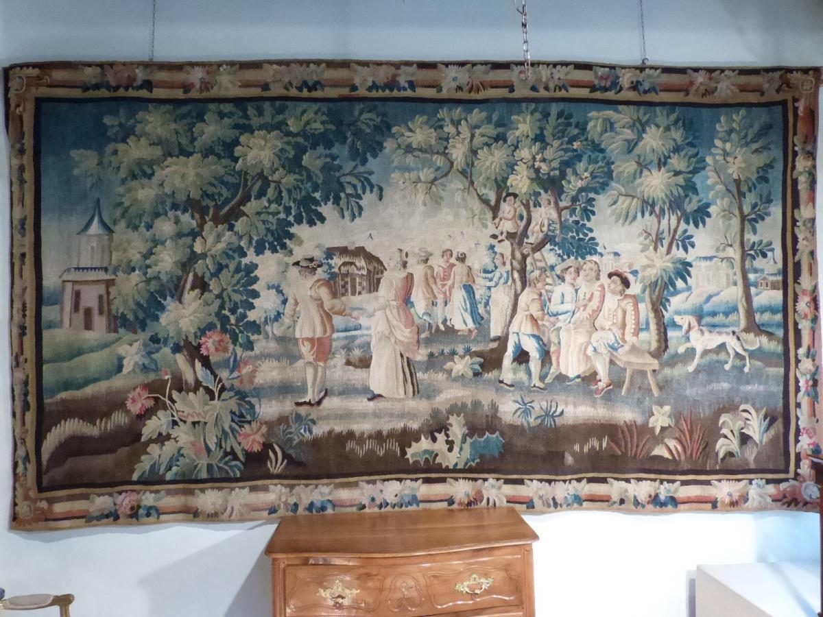 """Tapestry """"villageoises Scenes"""""""