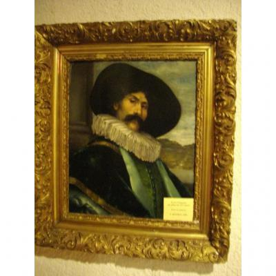 """Painting """"portrait Of Musketeer"""""""