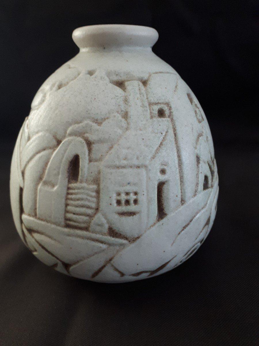 Vase en Grés  JOSEPH Mougin (1876-1961) Art Déco-photo-3