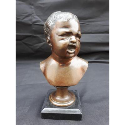 Enfant Pleurant Bronze  en buste 19 Eme