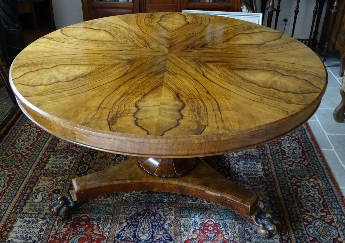 Impressive Pedestal Table In Ormes Loupe