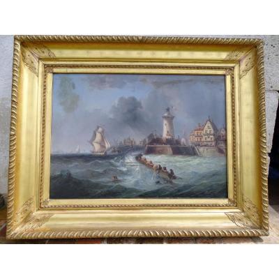 Grande Peinture Marine Signé André Fonèche