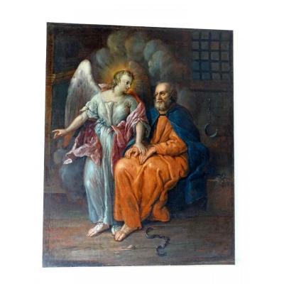 Grand Tableau Religieux 18éme école Italienne