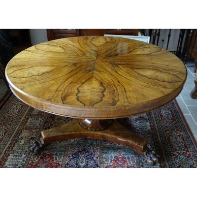 Impressive Pedestal Table In Ormes Loupe