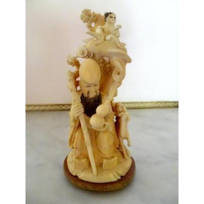 Okimono In Ivory China 1930-40