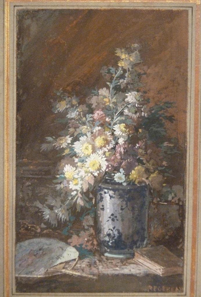 Nature Morte Au Vase De Fleurs, Paul Henri REGEREAU (1862)