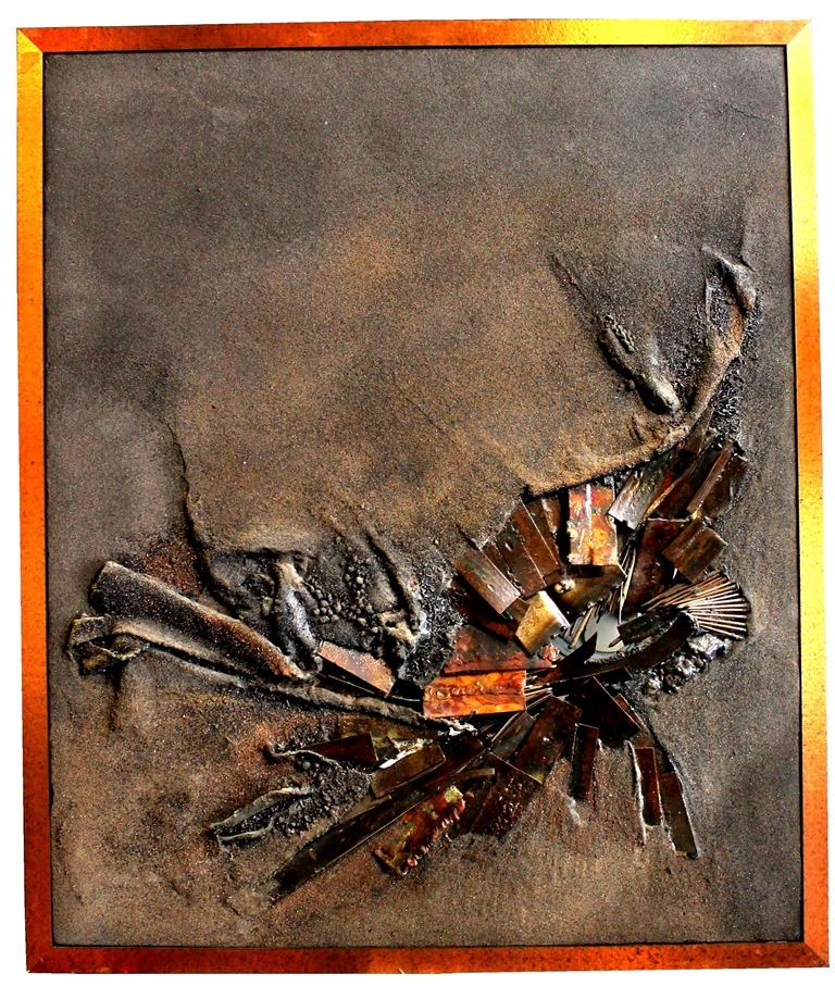 """"""" Déchirure """" Composition Et Assemblage, 1975"""