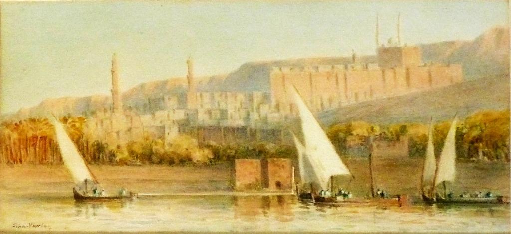 Jonh Varley (1850-1933) Bateaux De Pêche Sur Le Nil