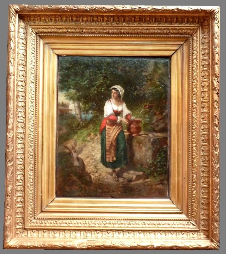 Jeune Femme Au Puits, Gustave DAVID (1824-1891)