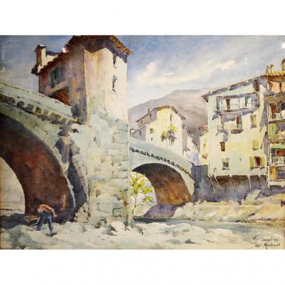 Le Vieux Pont De Sospel, Pierre Mandonnet (1891-1970)
