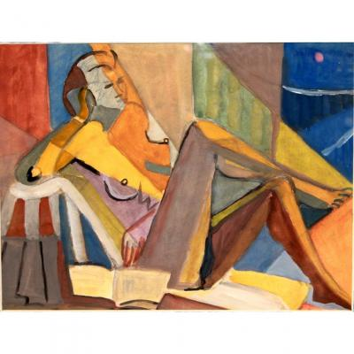 Female Nude Cubist