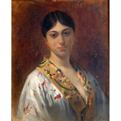 Jeune Femme Au Kimono