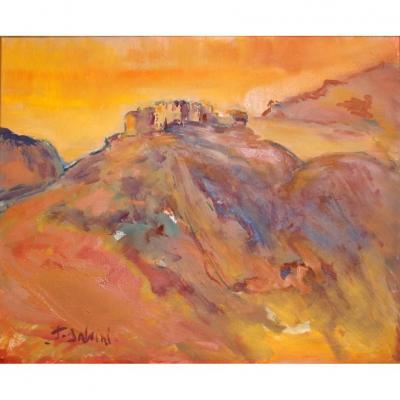 François SALVINI (1937) Forteresse en Corse