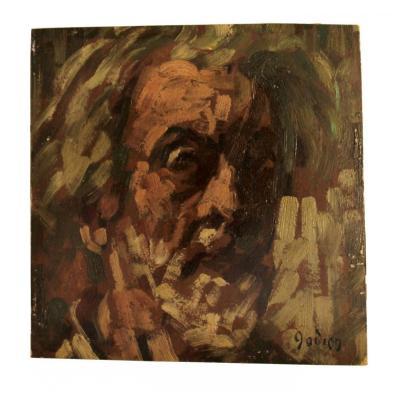 Adrien GODIEN (1873-1949) Autoportrait