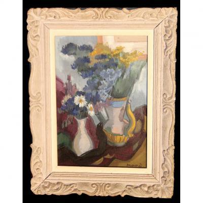 Vases De Fleurs, Jean Besancenot (1902-1992)