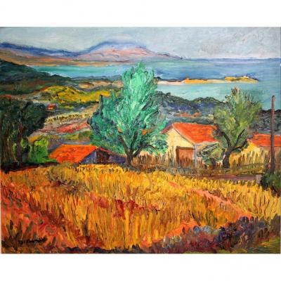 Paysage Près Des Côtes, J.a.r Durand (1914-2001)