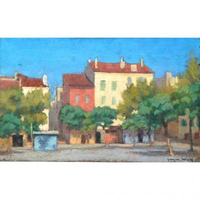 """ La Place Du Village"" Jacques Wolf (1896-1956)"