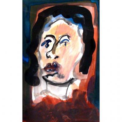 Portrait De Femme, Adrien Seguin (1926-2005)