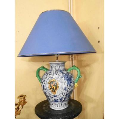 Lampe Chevrette En Faience Style 17eme