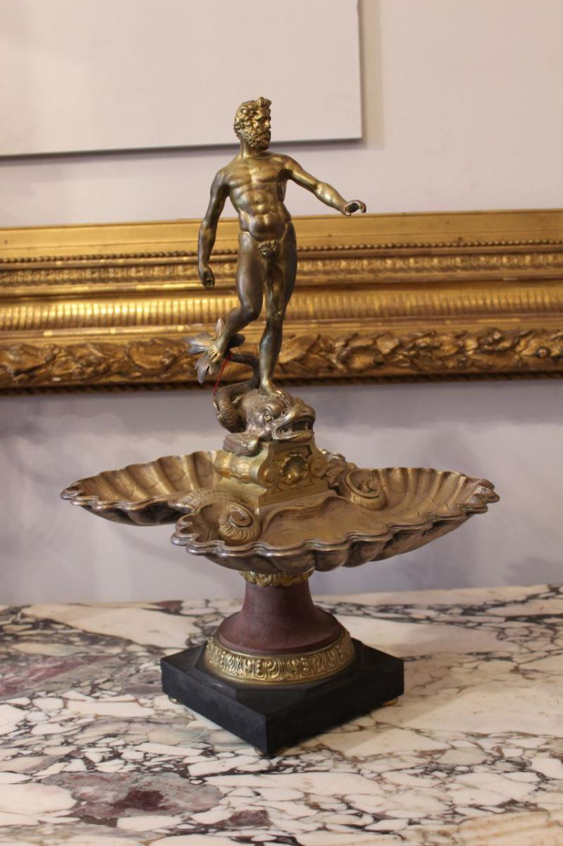 Bronze Cup On Marble Base, Time XIX.