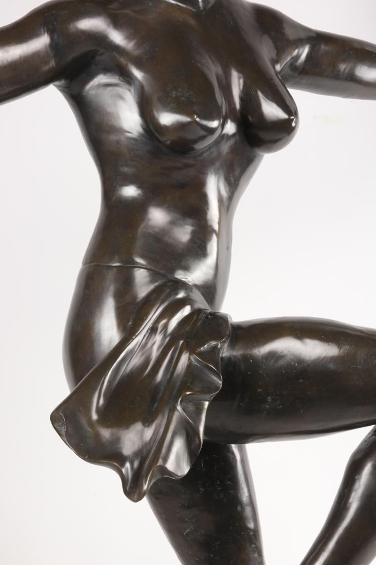 Lampe En Bronze De Style Art Deco.-photo-3
