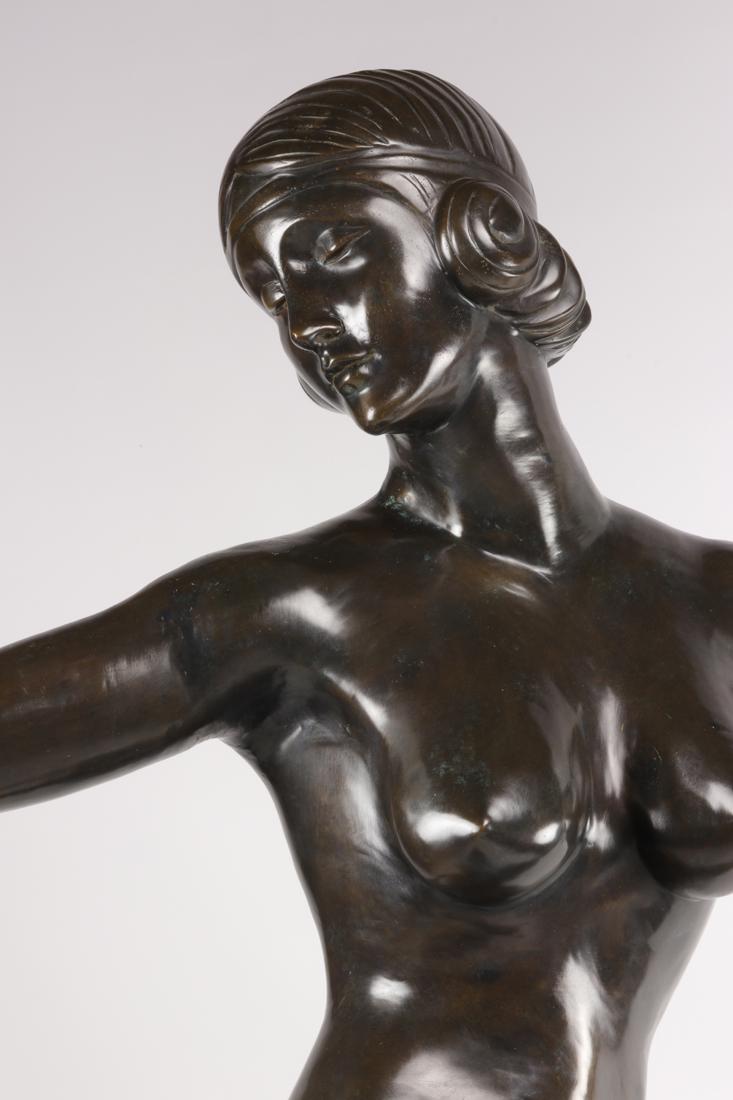 Lampe En Bronze De Style Art Deco.-photo-4