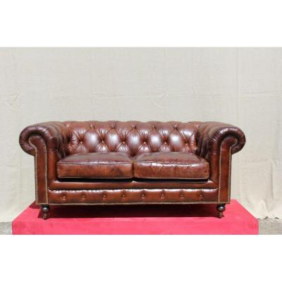 Chesterfield Sofa In Leather.