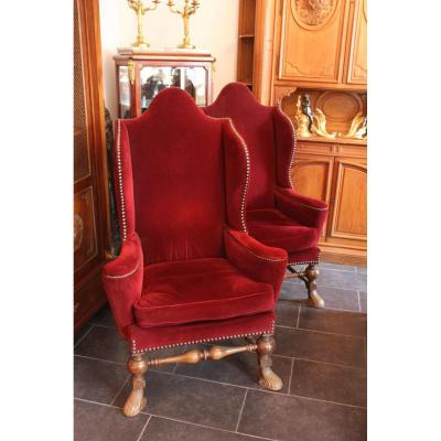 Pair Of Armchairs Of Apparat, Period XIX.