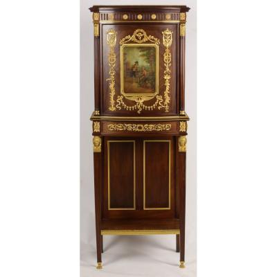 Cabinet En Vernis Martin Et Bronze Doré, époque XIX.