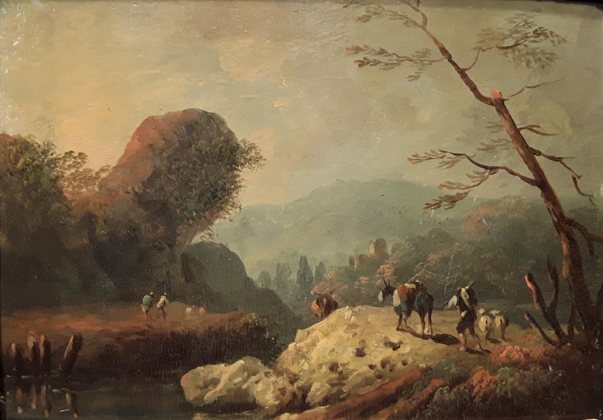 """landscape At The Rock"" Workshop J. Pillement."