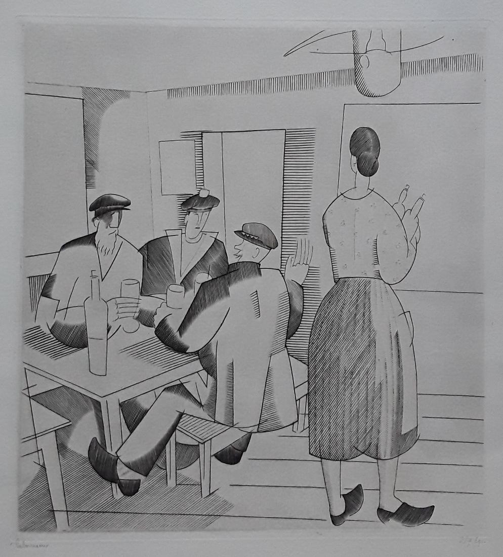 Gravure De J-e Laboureur  (1877-1943).