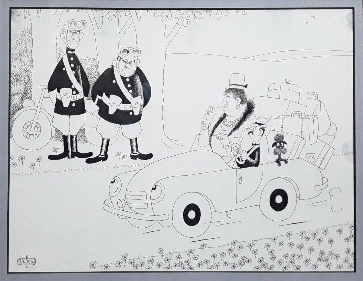 Original Drawing By Albert Dubout. 1905-1976