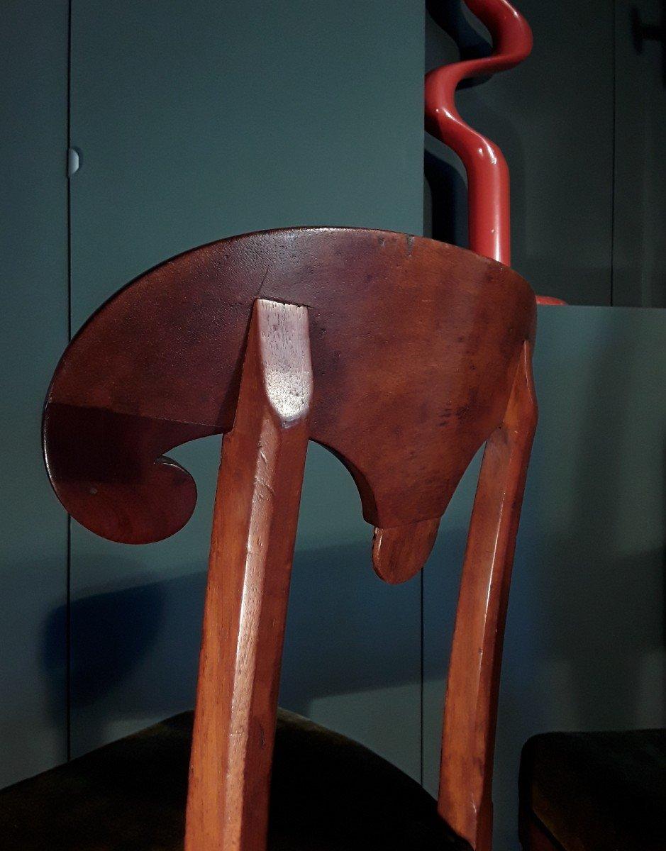 Paire De Chaises d'époque Consulat.-photo-2