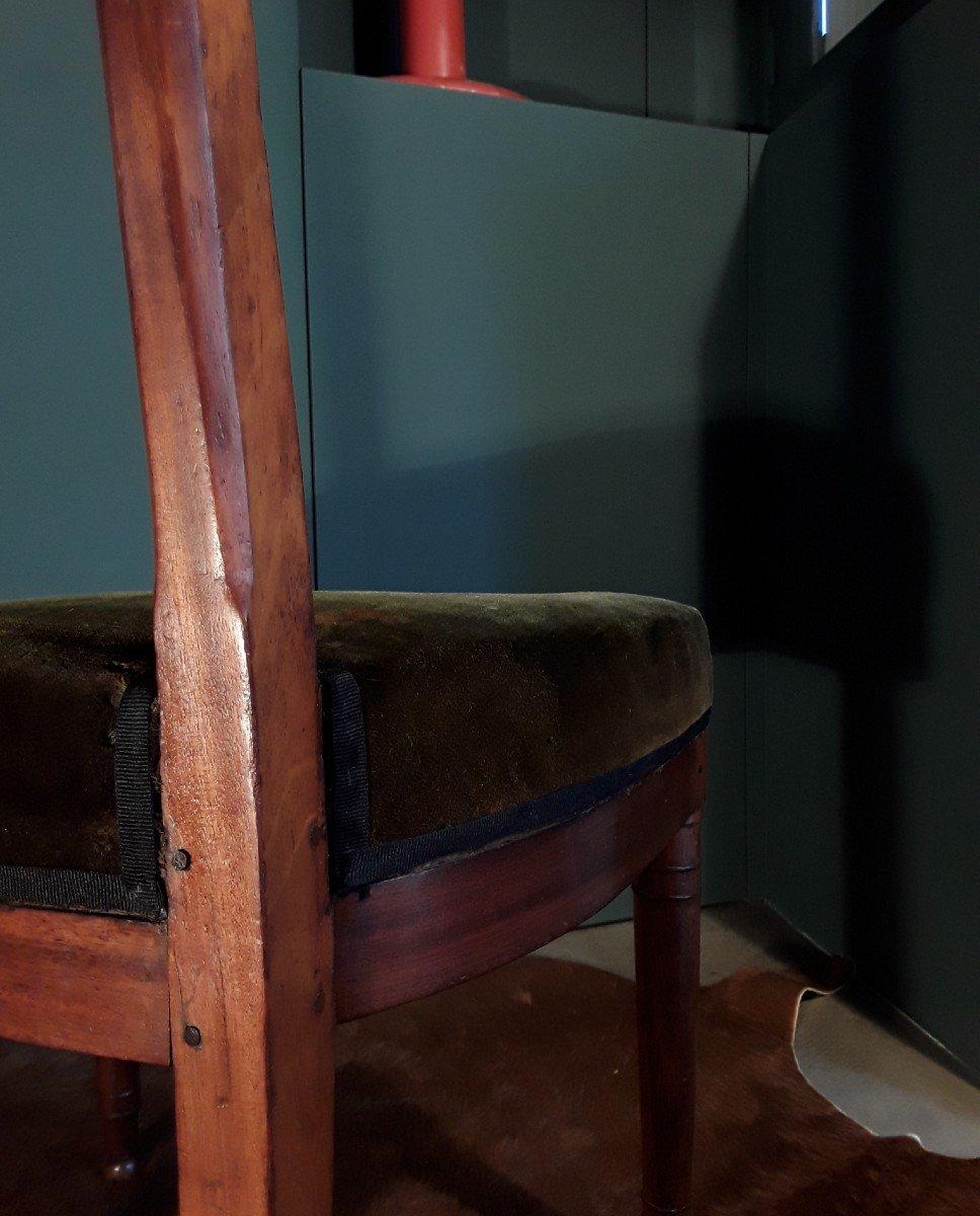 Paire De Chaises d'époque Consulat.-photo-6