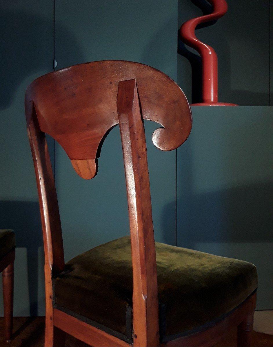 Paire De Chaises d'époque Consulat.-photo-7