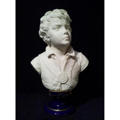 "Bust Of ""viala"". Biscuit And Porcelain. Marks Of Sèvres."